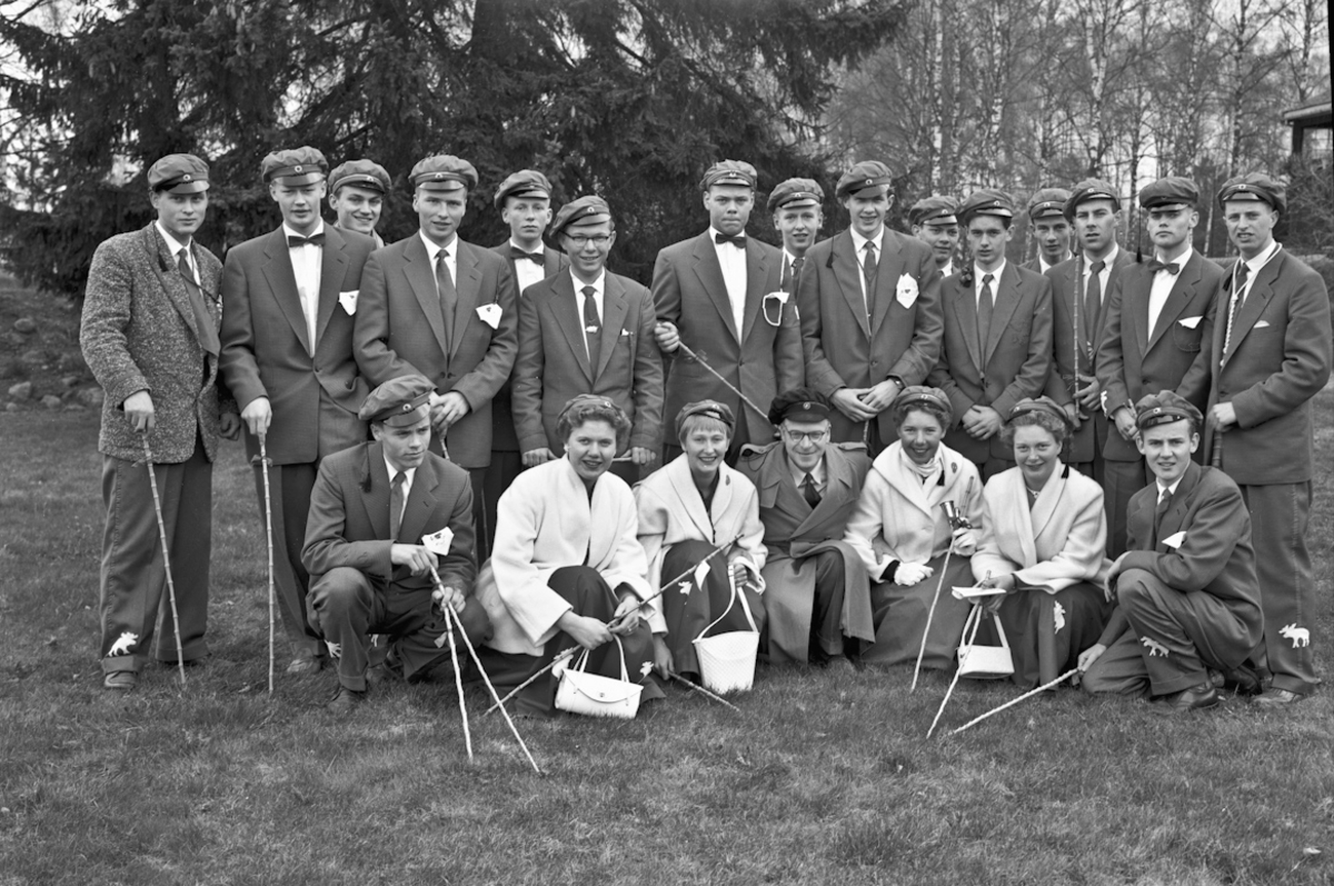 Gruppe russ ved Eidsvoll Landsgymnas.