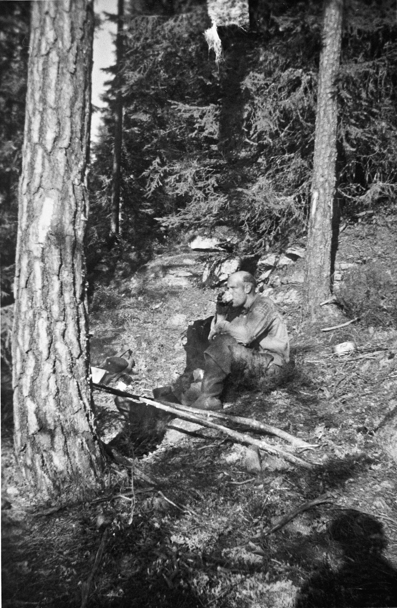 Skogsarbeid - med pause.