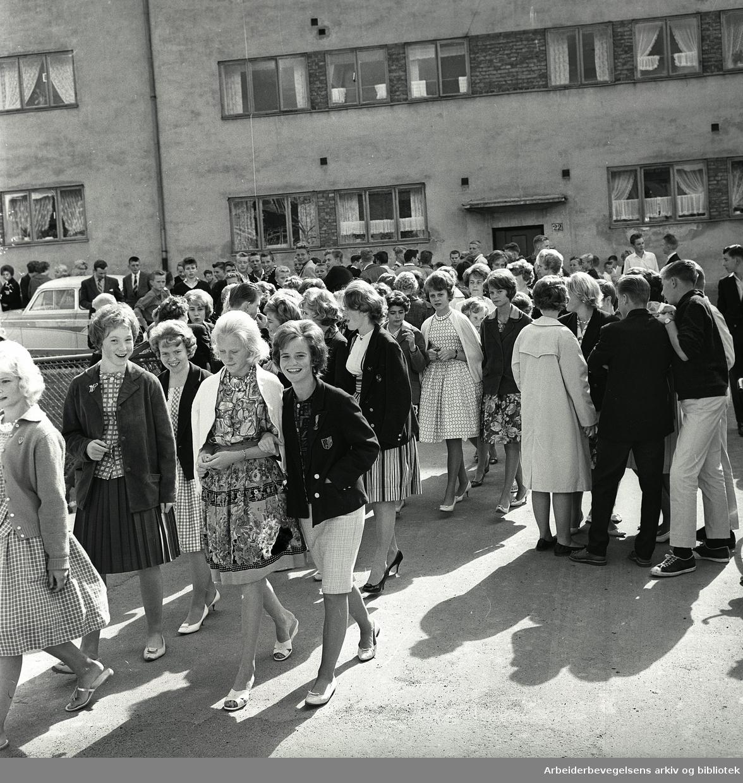Sandaker kombinerte skole,.august 1961.