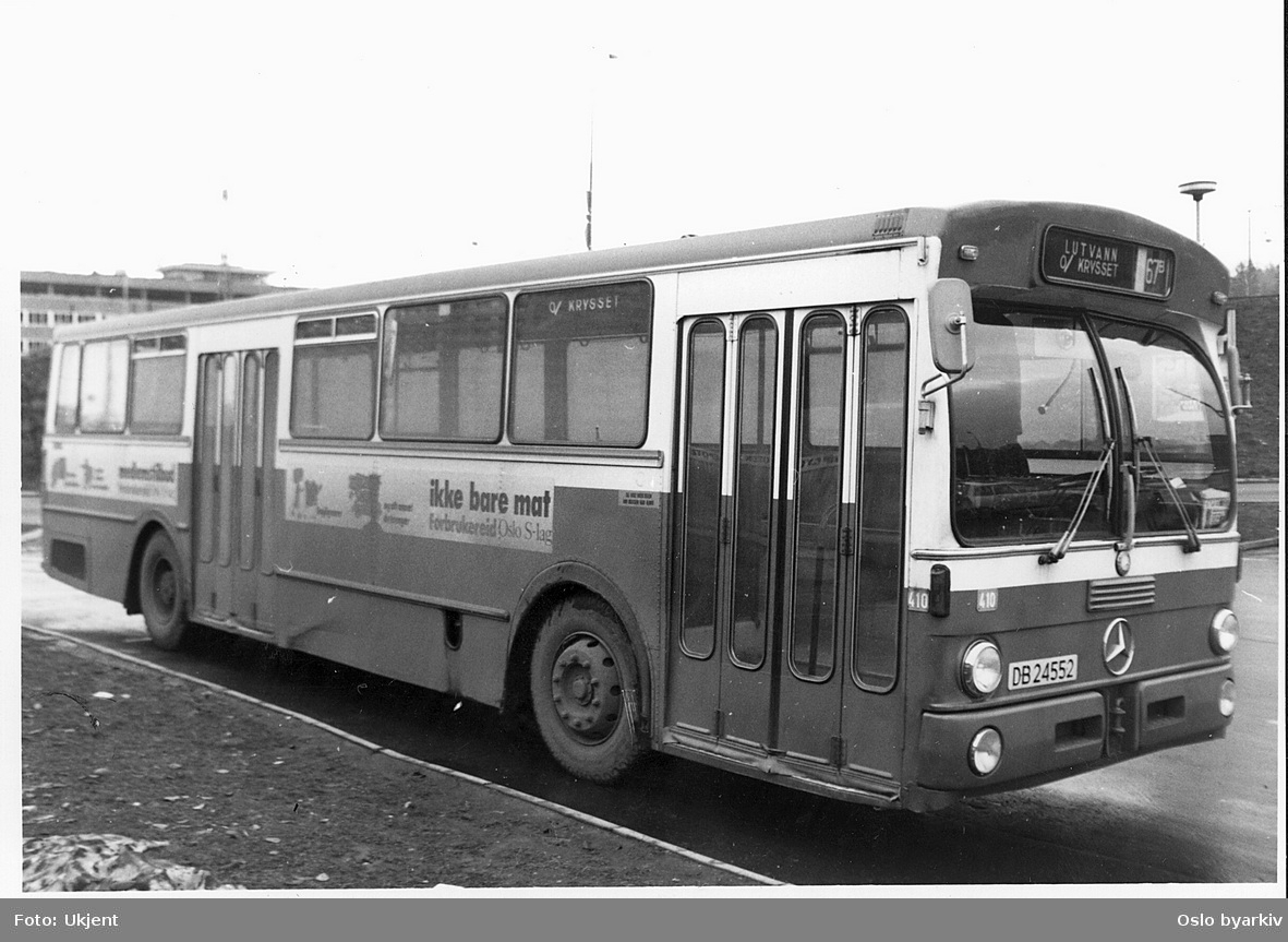 Oslo Sporveiers buss 410 VBK/Mercedes 1973