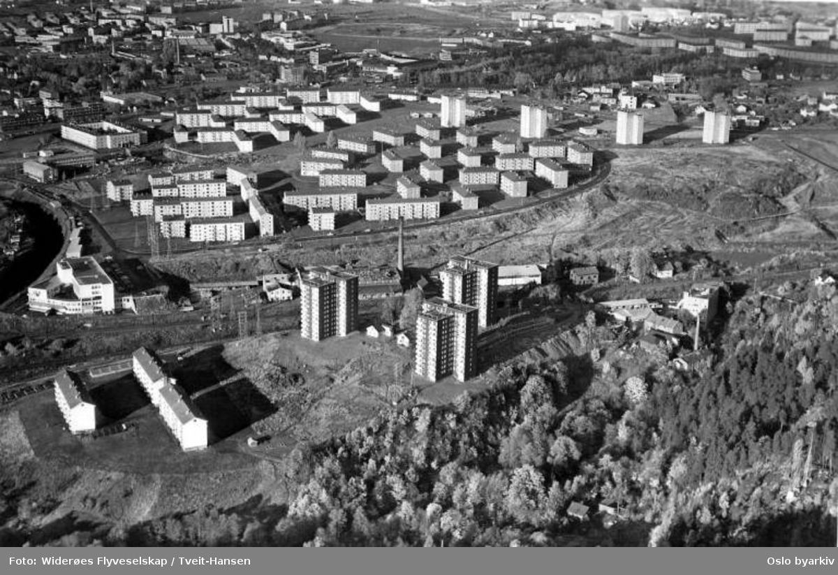 Etterstad - Bryn, Kværner boliger (Flyfoto)