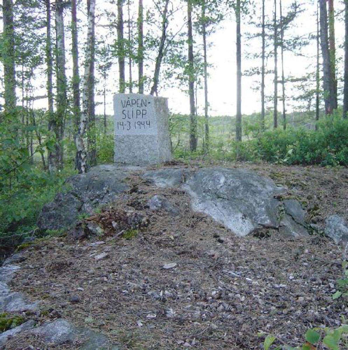 Granittstein ca 60 cm x 20 cm. 80 cm høy