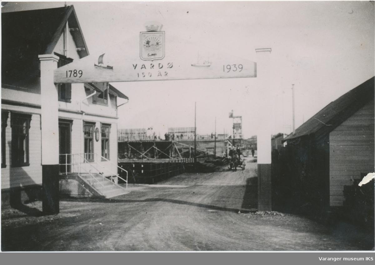 Dampskipskaia, 1939, bygging av kjølelageret i bakgrunnen