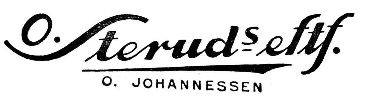 Gammel reklameplakat fra O. Steruds eftf. Logo.
