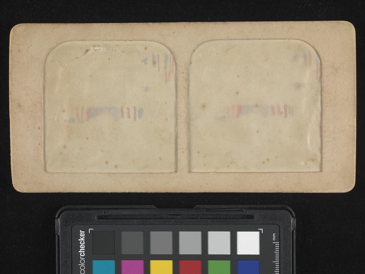 President McKinley holder sin innsettingstale ved tiltredelse av sin andre presidentperiode. Albumen print, montert på vinduskartong. Når belyst bakfra vises et håndkolorert 3-D-bilde.