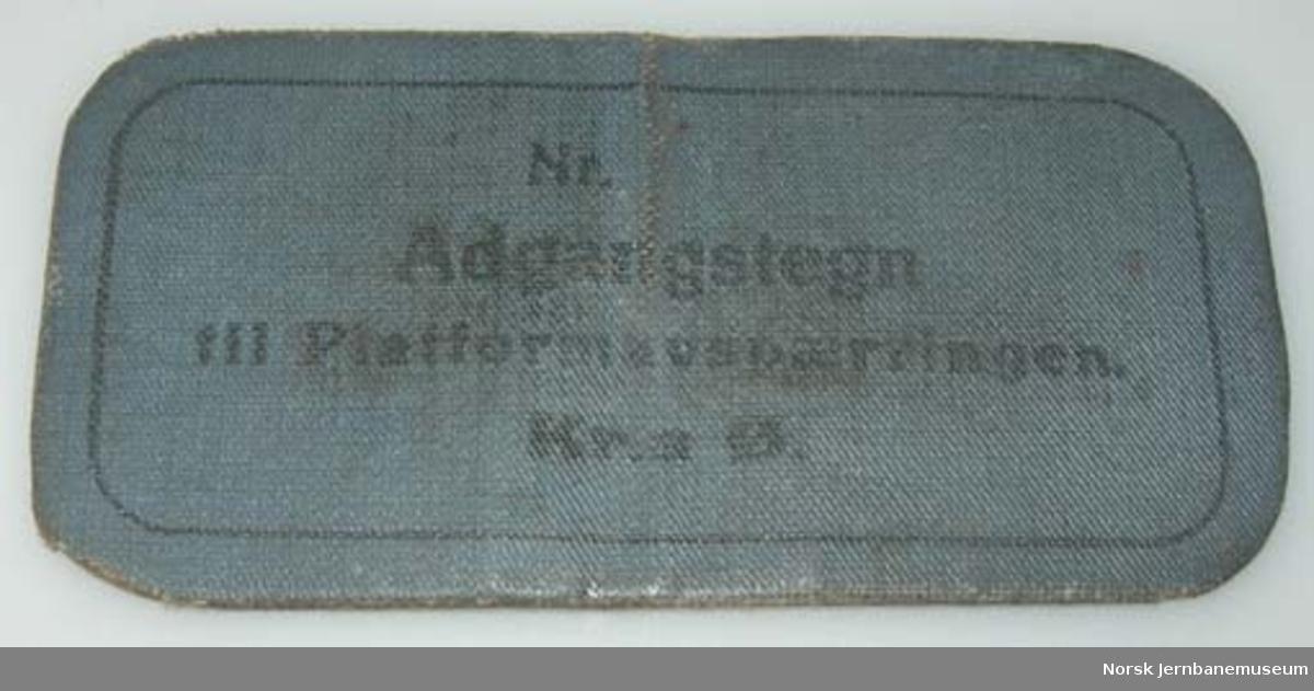 Adgangstegn til plattformavsperring Kristiania Ø