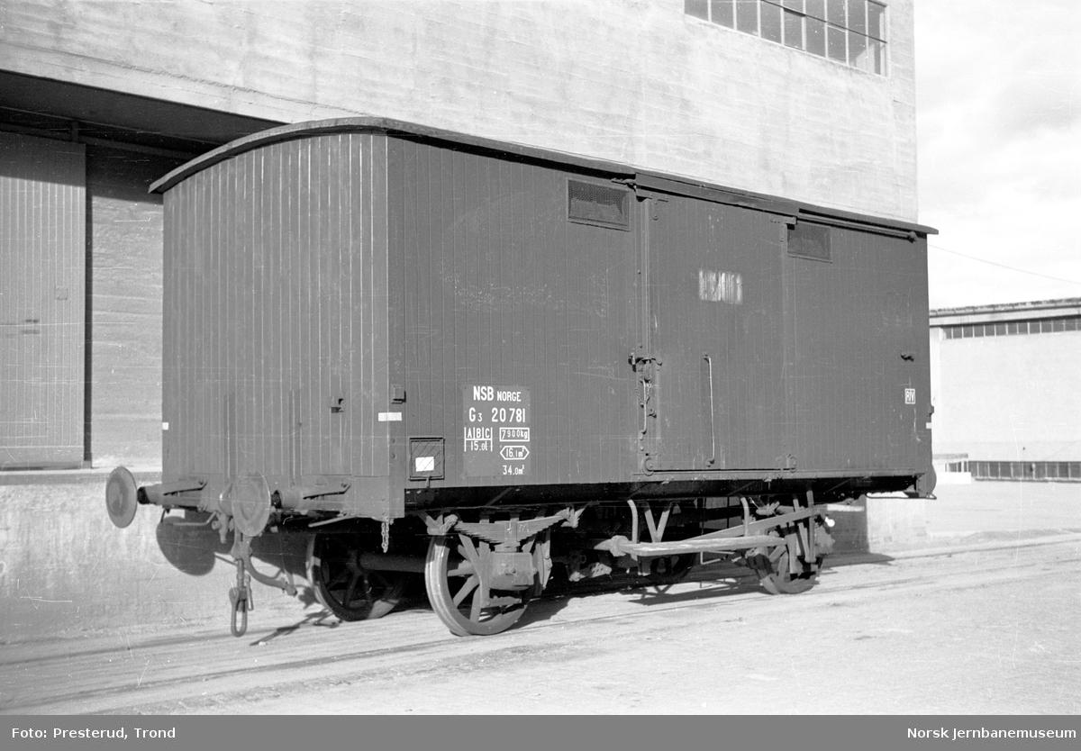 Lukket godsvogn litra G3 nr. 20781