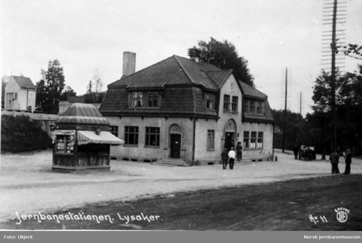 Lysaker stasjonsbygning fra gatesiden