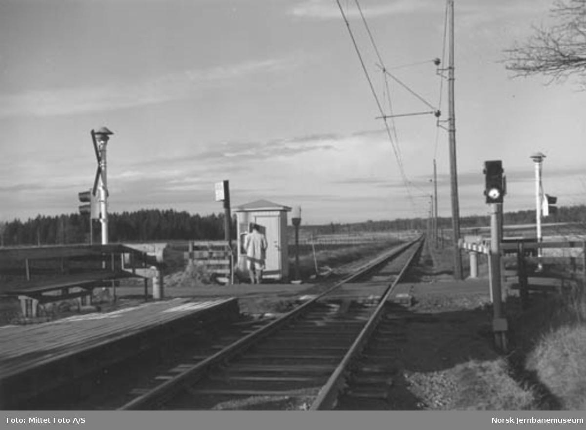 Bjølsund planovergang på Østfoldbanen, km 67,56