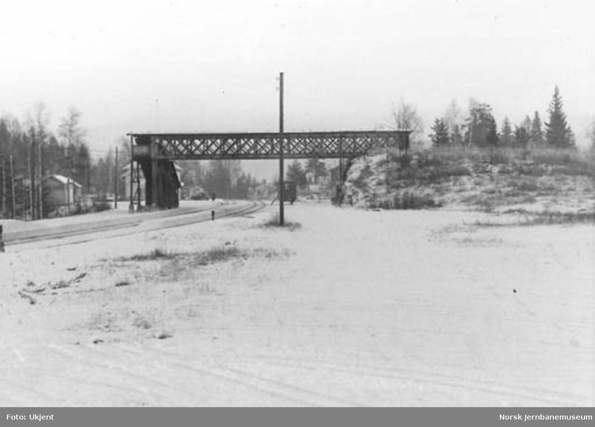 Nittedal stasjon sett mot nord