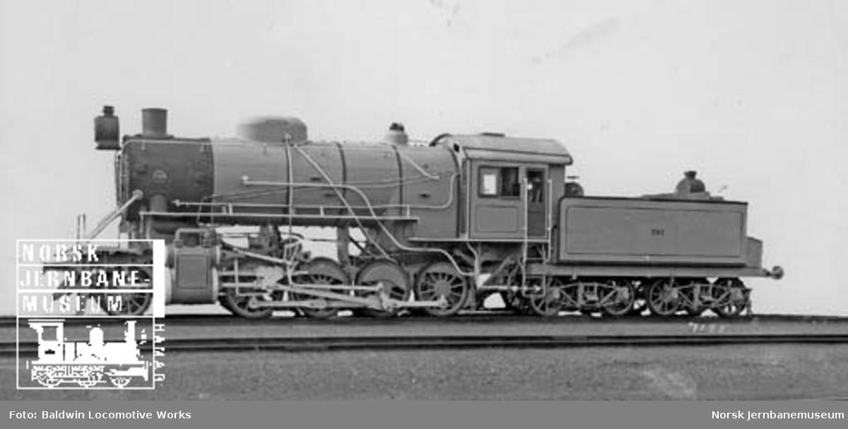 Leveransefoto av damplokomotiv type 33c nr. 393