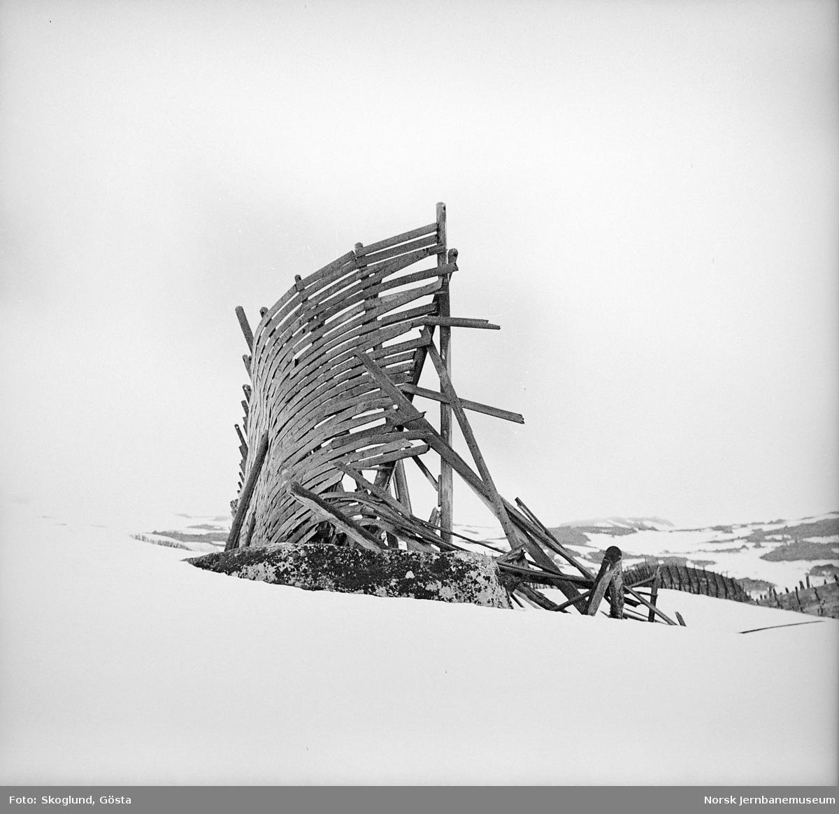Snøskjerm på Bergensbanen