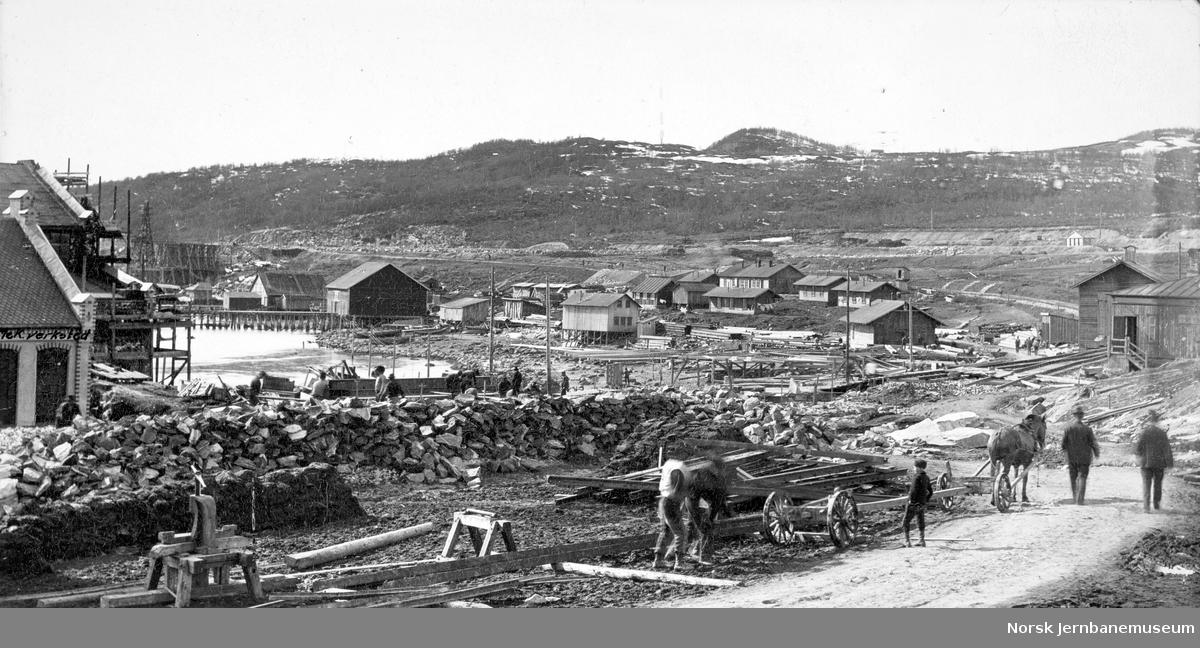 Anlegg av LKABs anlegg i Narvik : planeringsarbeider ved LKABs verksted