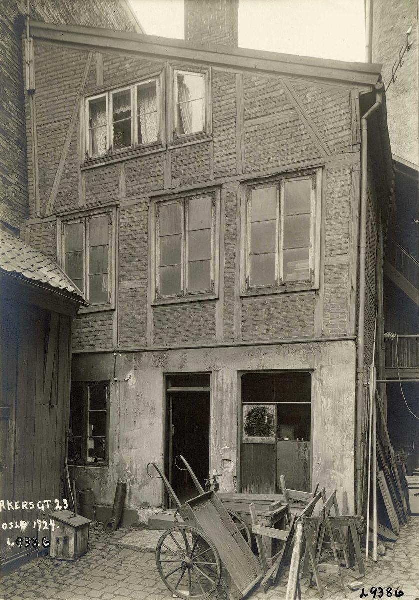Akersgata 23, Oslo. Verkstedsbygning i bakgården.