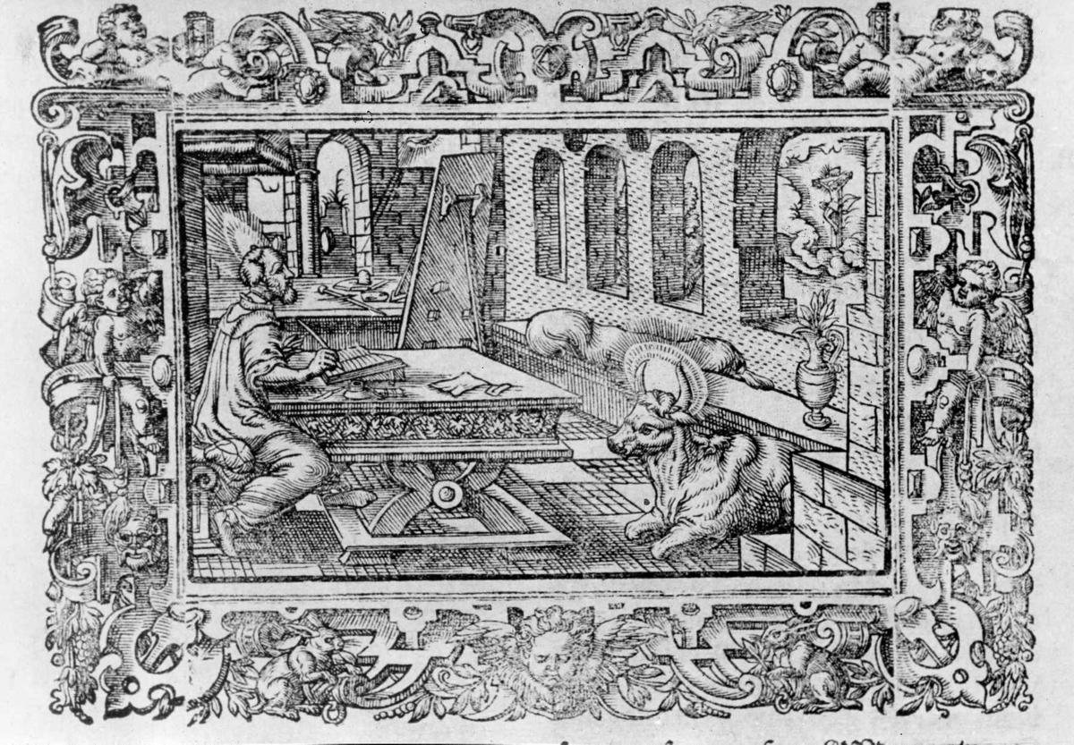 Tresnitt. Illustrasjon fra Fredrik II's bibel, 1589.