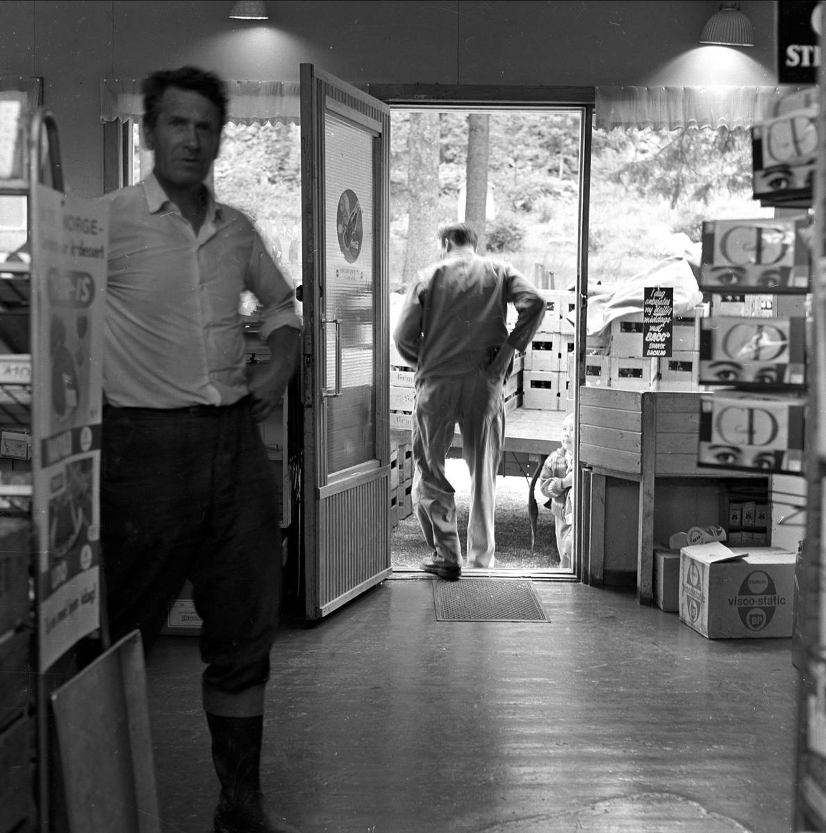 Rugda landhandleri, Oslo, juli 1963. Interiør.