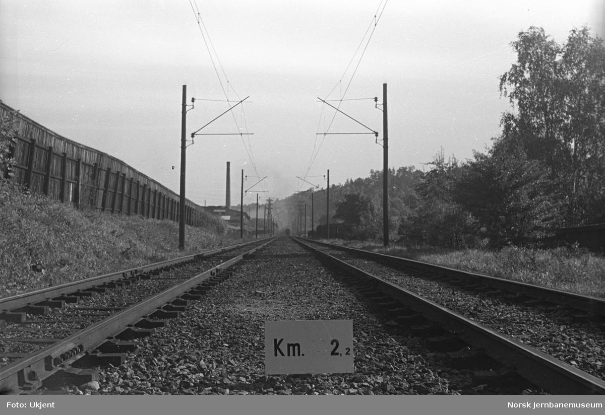 Hovedbanen : linjeføring km 2,2