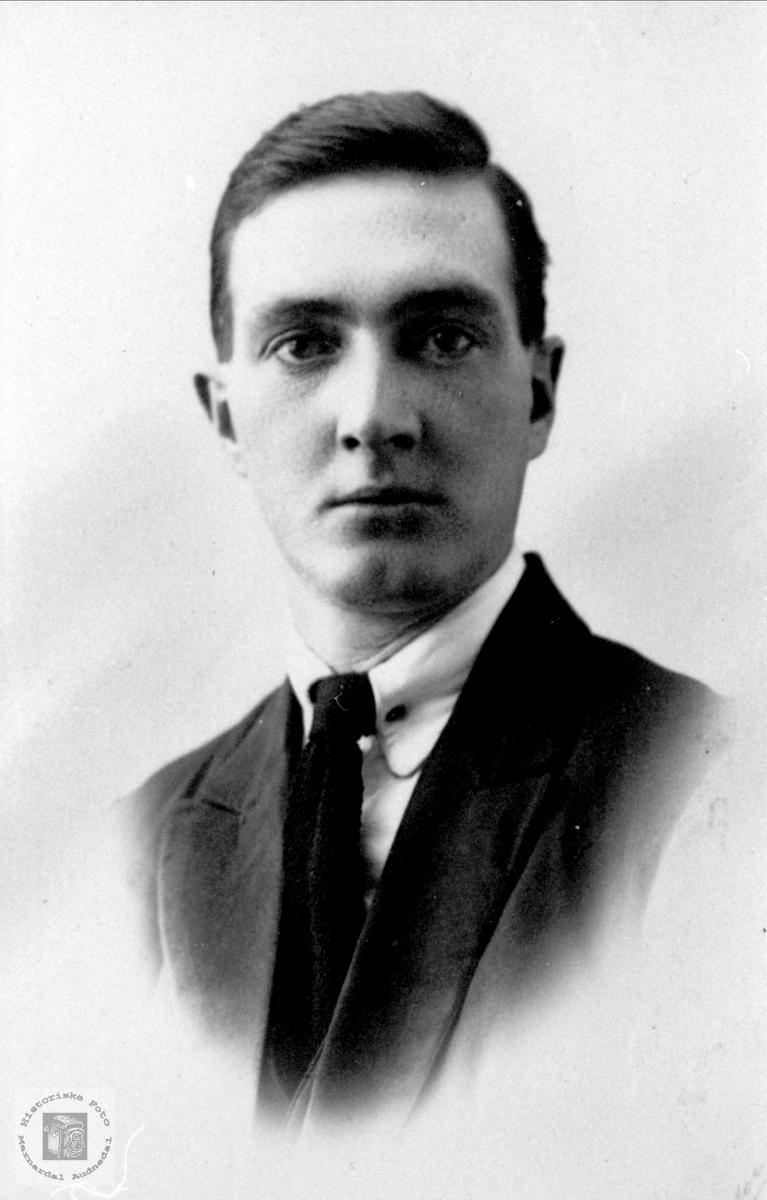 Portrett. Edvard Salvesen, Søgne.