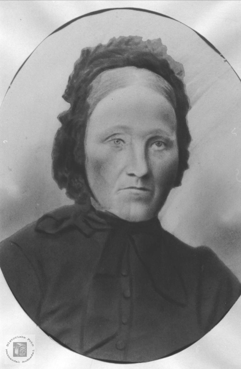 Portrett av Liv Lisland, gift Hønneland, Laudal.