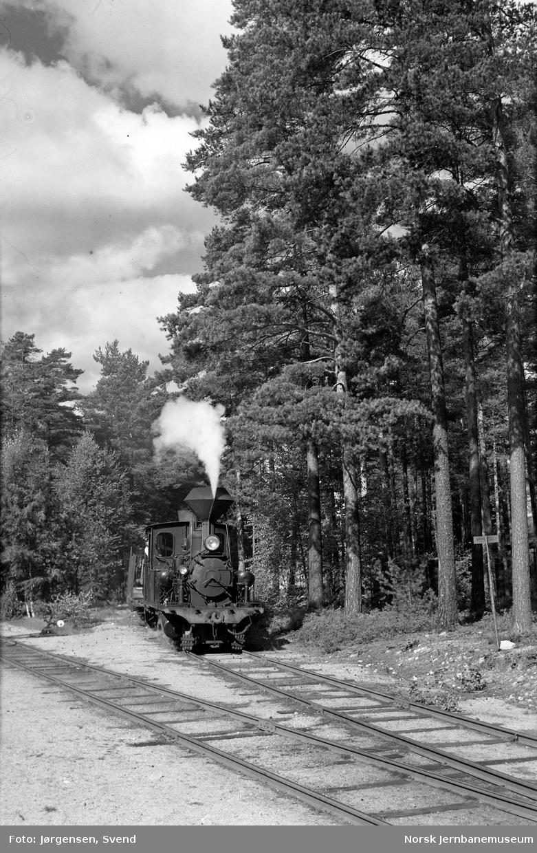 Damplokomotiv nr. 5 skifter på Byglandsfjord stasjon