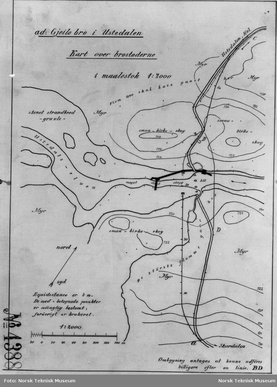 kart over geilo ad: Gjeilo Bro i Ustedalen Kart over Brostederne   Norsk Teknisk  kart over geilo