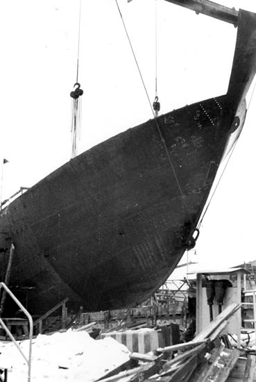 Sammanfogning av fartygssektioner, 116-119.