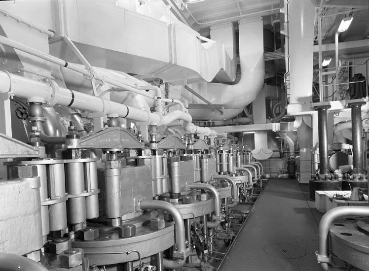 Maskintoppen till huvudmaskin på fartyg nr. 183 M/T Eastern Mariner.