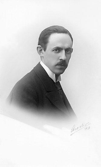 """Stämpel på framsidan: """"H.M. Konungens Hoffotograf, G.S. Ander, Lidköping."""" Skrivet på kortet: """"Ander, 1919."""""""