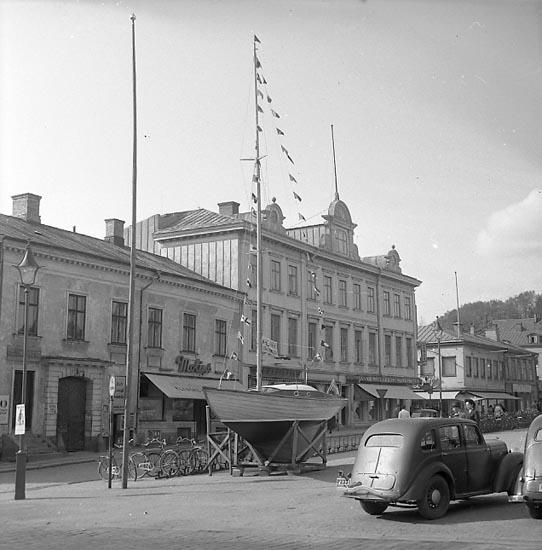 """Enligt notering: """"Utlottning båtar 12/5 1948""""."""