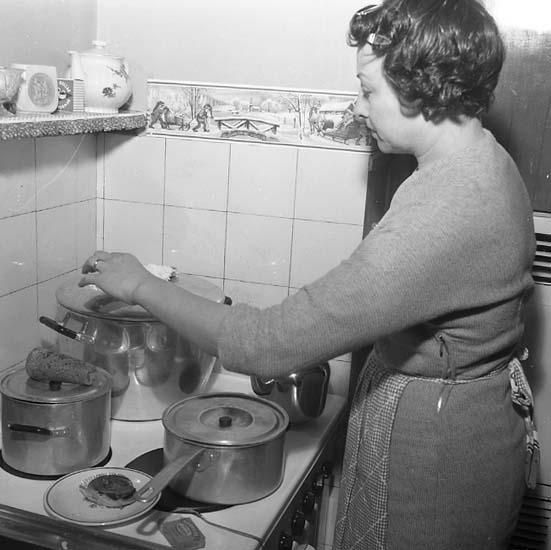 Jul hos familjen Andersson i Uddevalla 1956