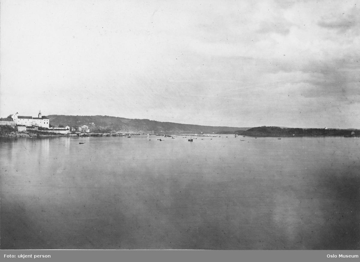 utsikt, fjord, småbåter, Akershus festning