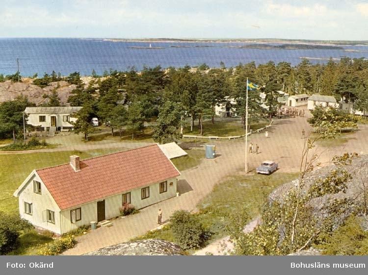 """Tryckt text på kortet: """"Strömstad. Kjellvikslägret."""""""