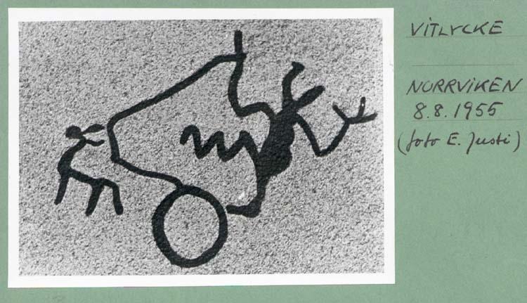 """Noterat på kortet: """"Vitlycke Norrviken. aug.1955."""""""