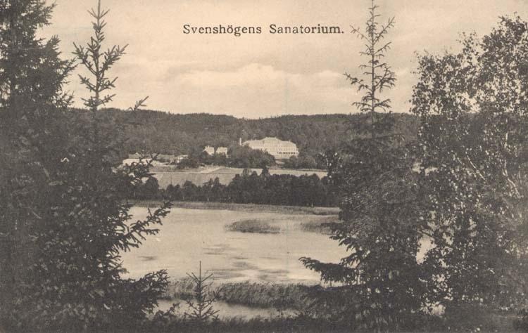 """Tryckt text på kortet: """"Svenshögens Sanatorium."""""""
