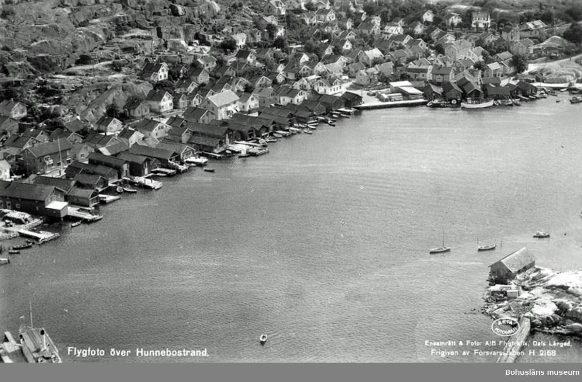 Flygfoto över Hunnebostrand.