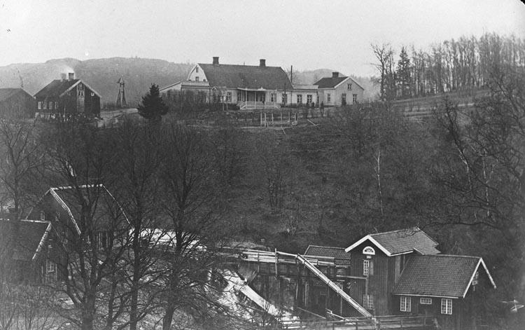 """Enligt fotografens noteringar: """"Munkedals Herrgård omk. år 1870."""""""