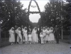 """""""1920, 1:sta bröllop på Saltkällan hos Schillers Vilh. (?) N"""