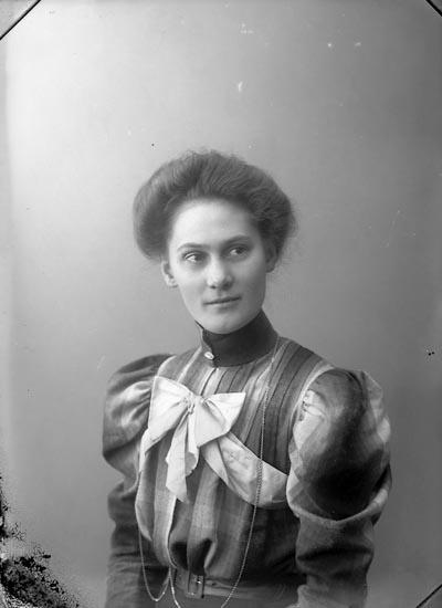 """Enligt fotografens journal nr 1 1904-1908: """"Andersson, Fr. Mallis Högsäter, Dalsland""""."""
