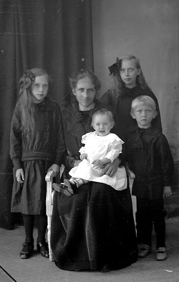 "Enligt fotografens journal Lyckorna 1909-1918: ""Fru Hanna Engberg Ulvesund""."