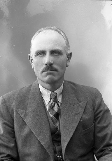 """Enligt fotografens journal nr 6 1930-1943: """"Olsson, Herr Ernst Höviksnäs""""."""