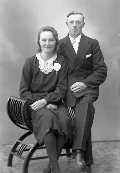 """Enligt fotografens journal nr 6 1930-1943: """"Andreasson, Rickard Skogen Svanvik Varekil""""."""
