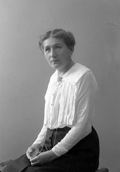"Enligt fotografens journal nr 4 1918-1922: ""Hamfp, Fru Ödsmål""."