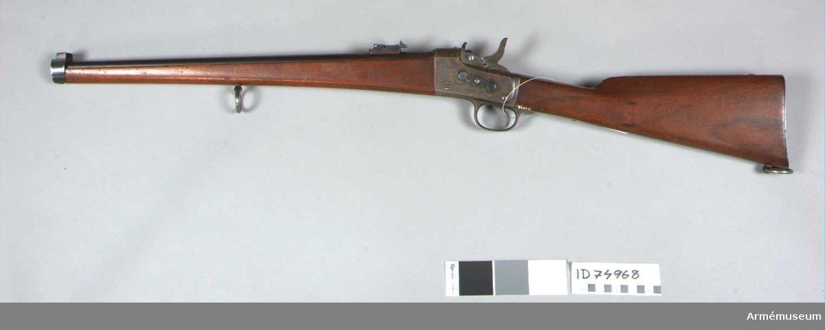 Grupp E II f.   Med Remingtons bakladdningsmekanism. Projektmodell 1889-1890 enligt Gen.fälttygmästare, exp. skrivelse 30/11 1906 Nr 1686.