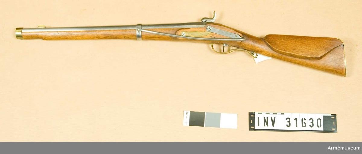 Grupp E II.  Karbin med slaglås, preussisk modell 1840-talet. Insurgentgevär från 1848, aldrig använd i Danmark.