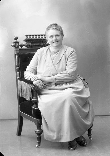 "Enligt fotografens journal nr 5 1923-1929: ""Andersson, Fru Selma, Groland, Spekeröd""."