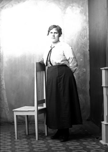 Ateljefoto, kvinna