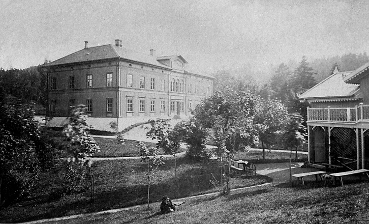 """Enligt tidigare noteringar: """"Barnhuset, Gustafsberg. Barnhem med skola, grundat 1776."""""""