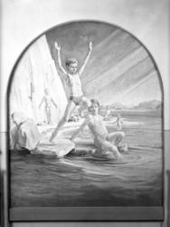 """Uppgift enligt fotografen: """"Uddevalla. Målning i U-a Högre A"""