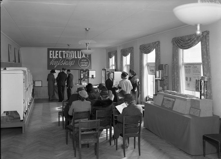 "Uppgift enligt fotografen: ""Uddevalla. Elektrolux. Demonstration."""