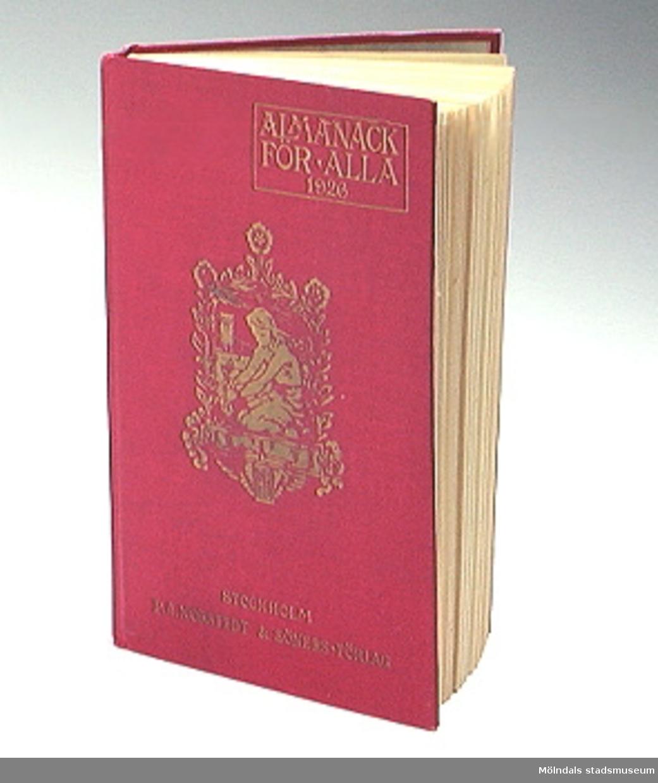 """""""Almanacka för alla 1926""""."""
